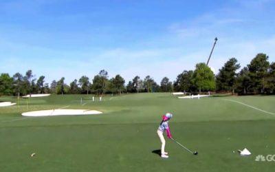 Victoria Matthews Wins Girls 7-9 Driving at Augusta Drive Chip & Putt