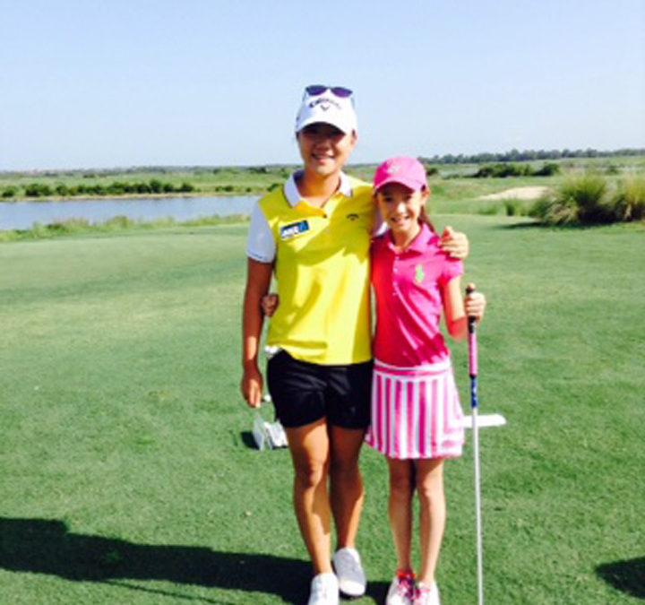 Victoria with LPGA World #1 Lydia Ko