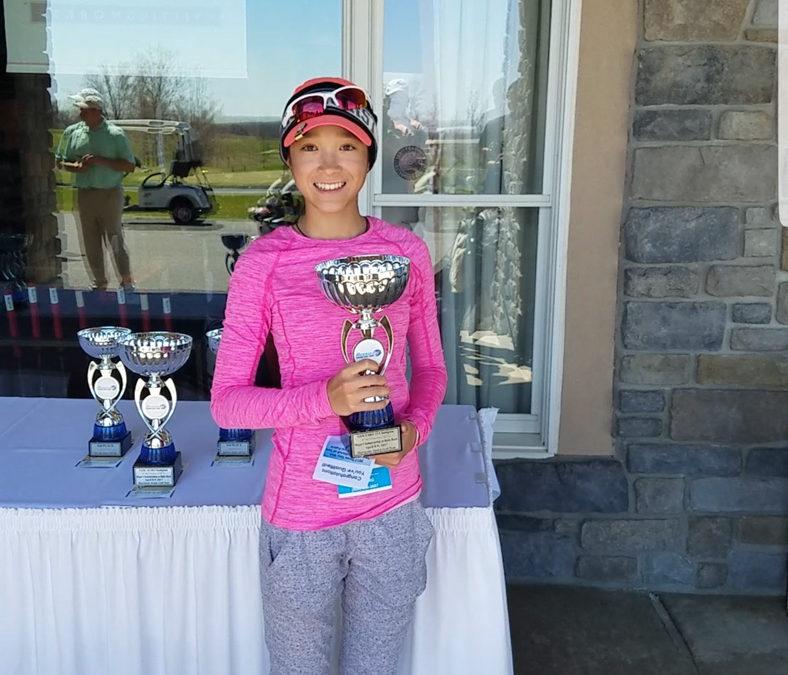 Victoria wins Major Championship at Bulle Rock for Girls 13u Hurricane Junior Golf Tour April 8-9, 2017.