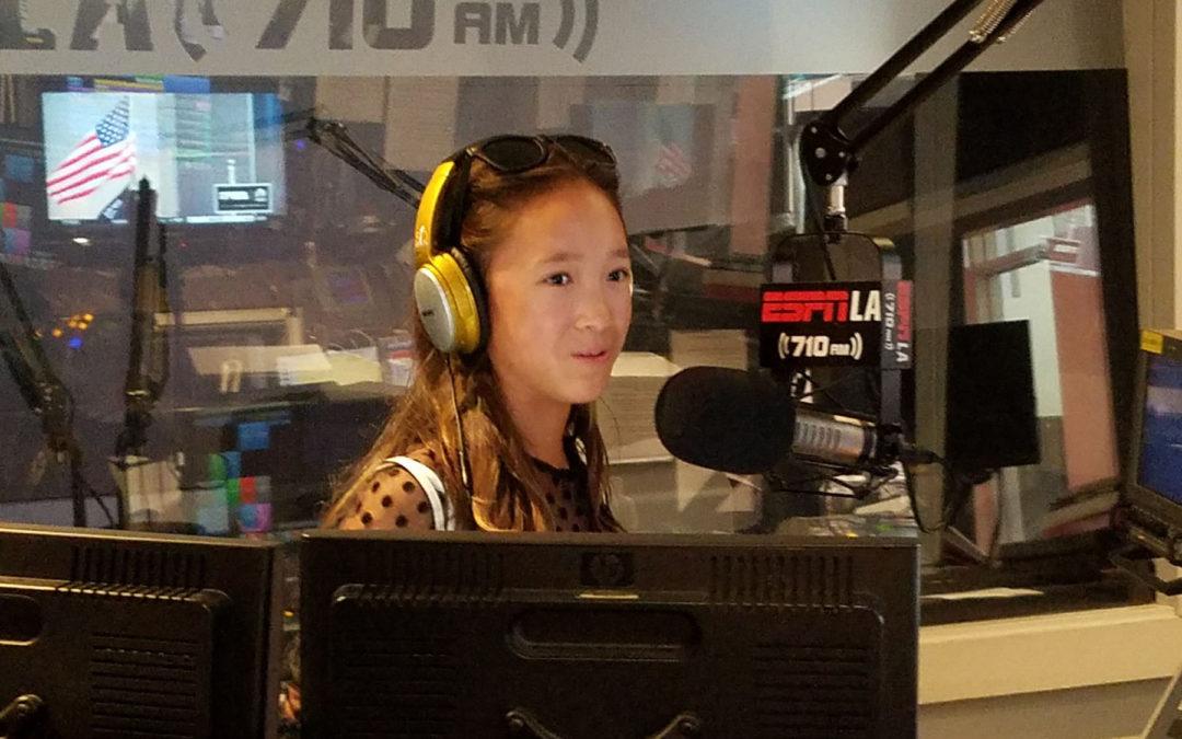 Victoria visits ESPN L.A. Live- Audio Interview
