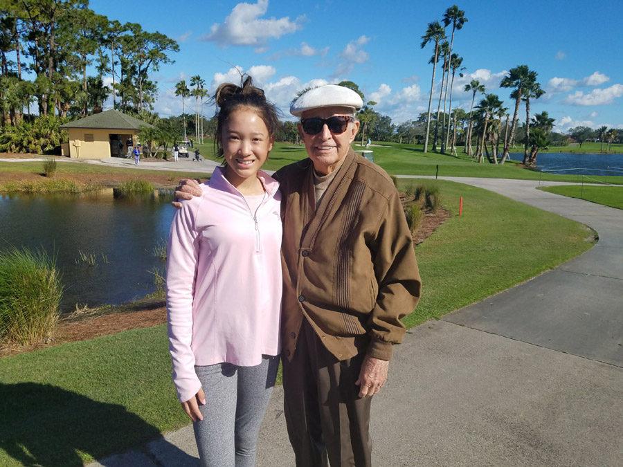 Victoria meets Bob Toski, legendary PGA Professional Hall of Fame golfer