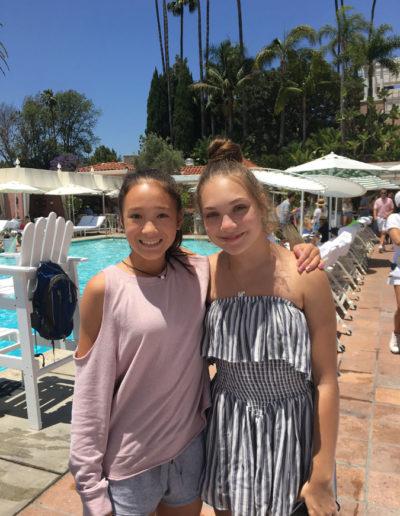 Victoria with Maddie Ziegler